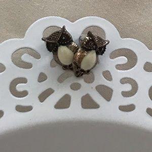 Jewelry - Owl earrings vintage look